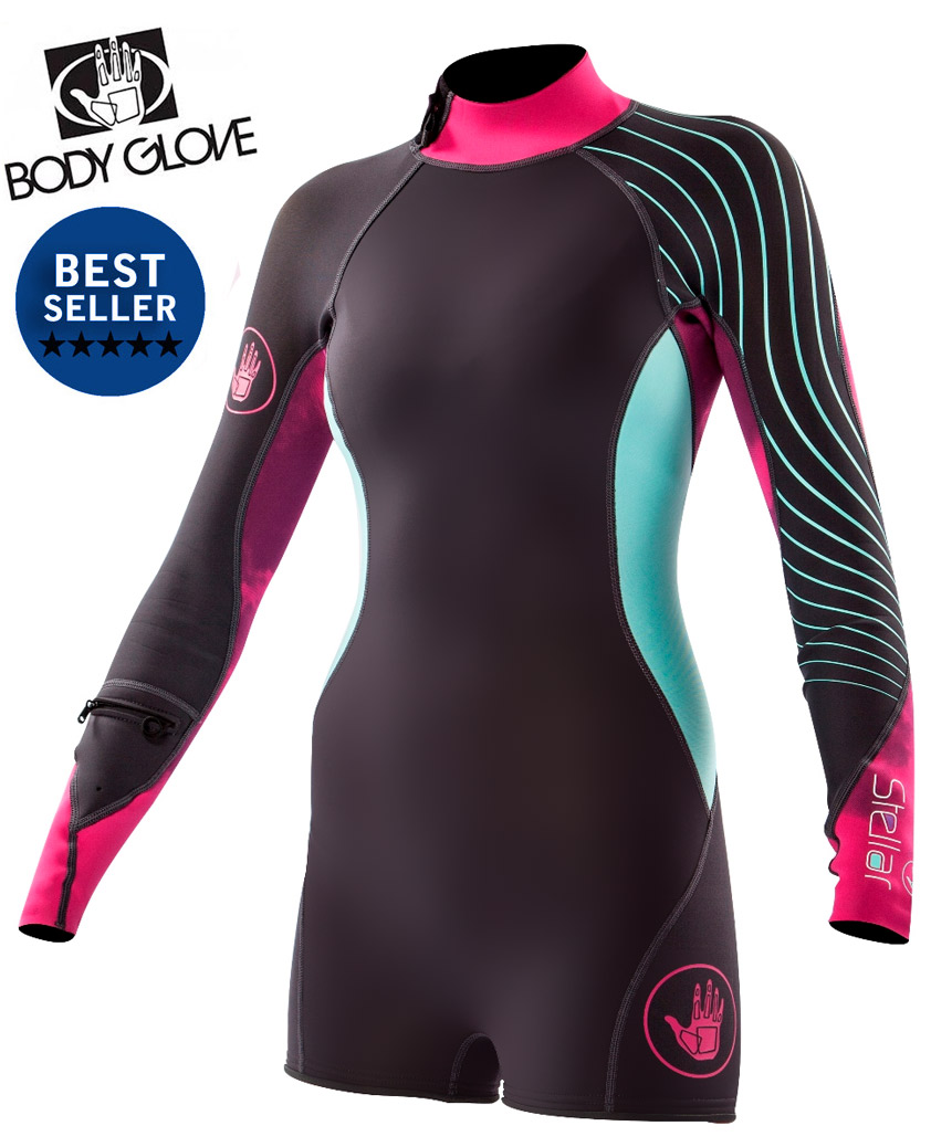 b1cc0cc620 Body Glove Stellar 2mm Long Sleeve Womens Springsuit Wetsuit