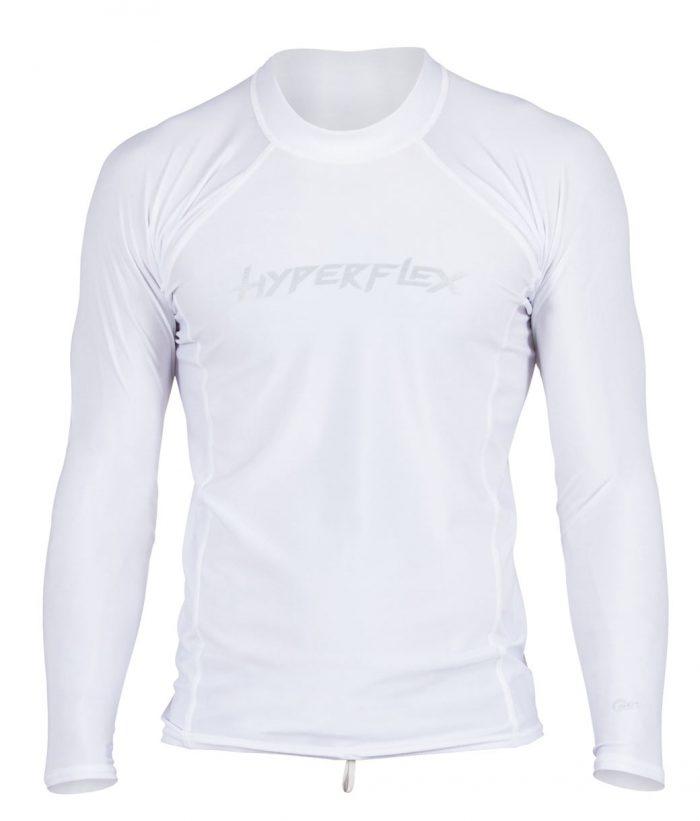 d2326ec1700e Hyperflex Men's Rashguard Loose Fit Long Sleeve 50+ UV Protection White