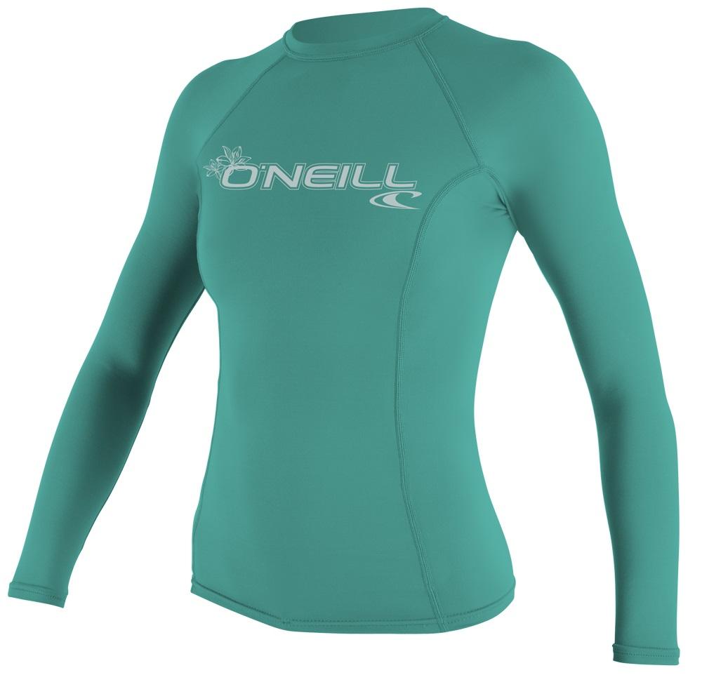f79ad866bcb3 O'Neill Women's Long Sleeve Rashguard 50+ UV Protection Light Aqua ...