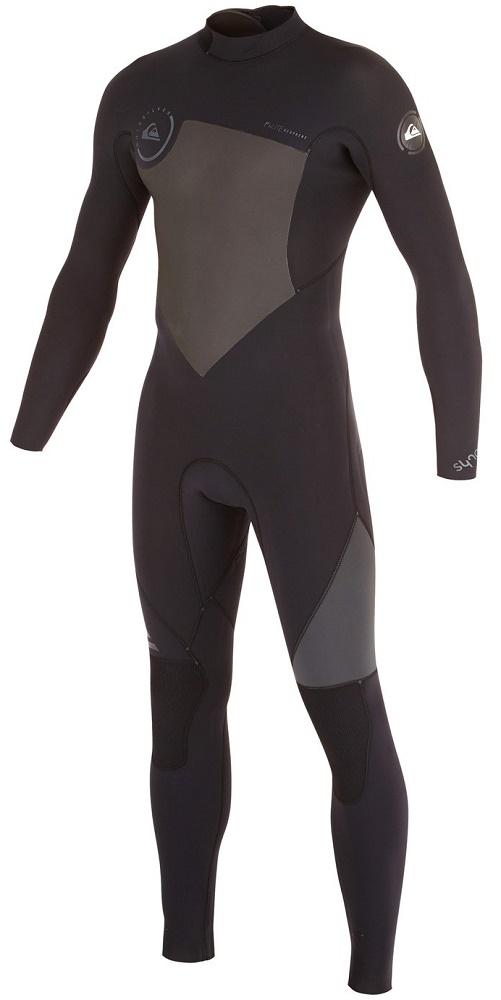 490b7b5517 Quiksilver Syncro Wetsuit Men s 4 3m GBS Wetsuit Back Zip - Black Grey