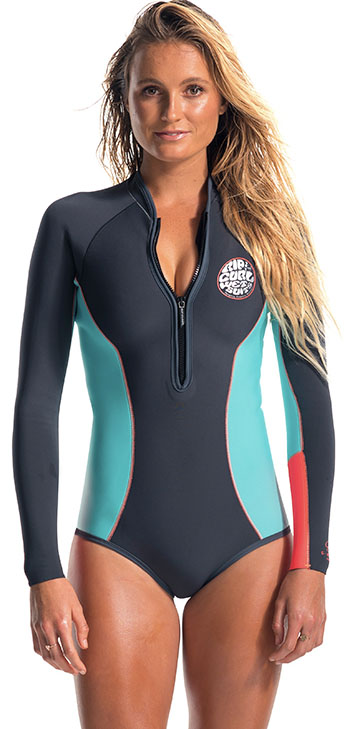 Rip Curl G Bomb Springsuit Wetsuit 1mm Long Sleeve Booty Cut Gbomb - Grey
