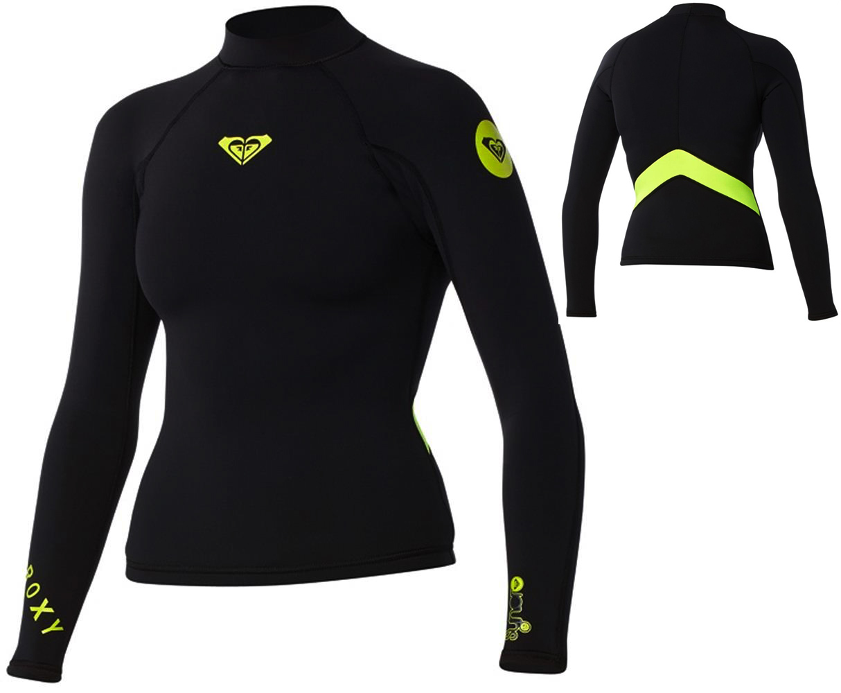 fee1bc54c8fc Roxy Syncro Neoprene Jacket 1.5mm Long Sleeve - LIMITED EDITION - Black  Yellow | Pleasure Sports