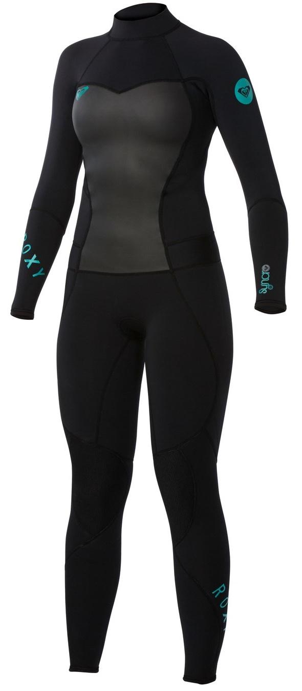 8dbf24acb2 Roxy Syncro 4 3mm Women s Back Zip GBS Wetsuit Black ARJW103008-KVD0 ...