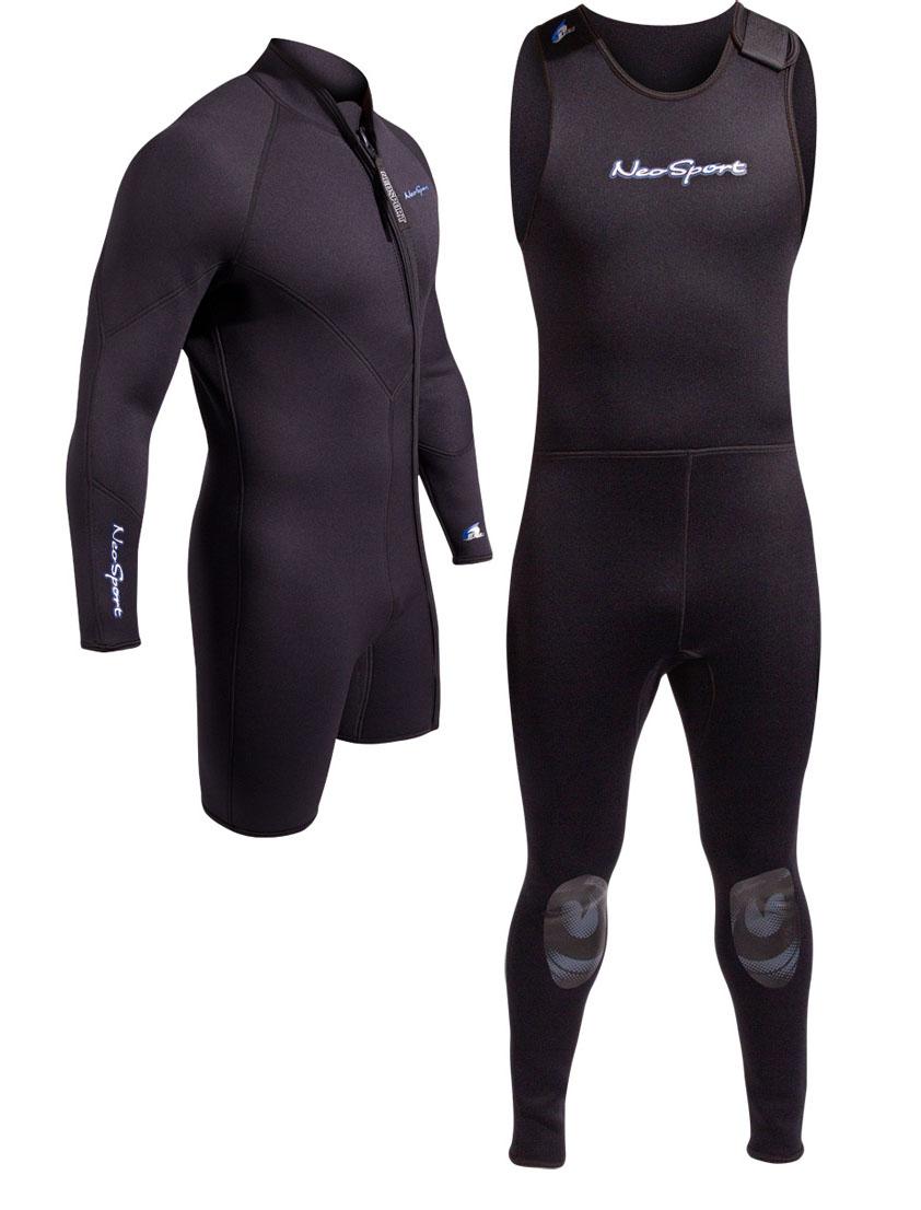 a0e52345b9 NeoSport 7mm 2 Piece Wetsuit Combo Men s Step In Scuba Diving - Premium  Neoprene