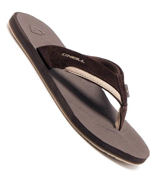 8886ab151f58a2 O Neill Clean Mean Leather Flip Flops 12184306-CHO