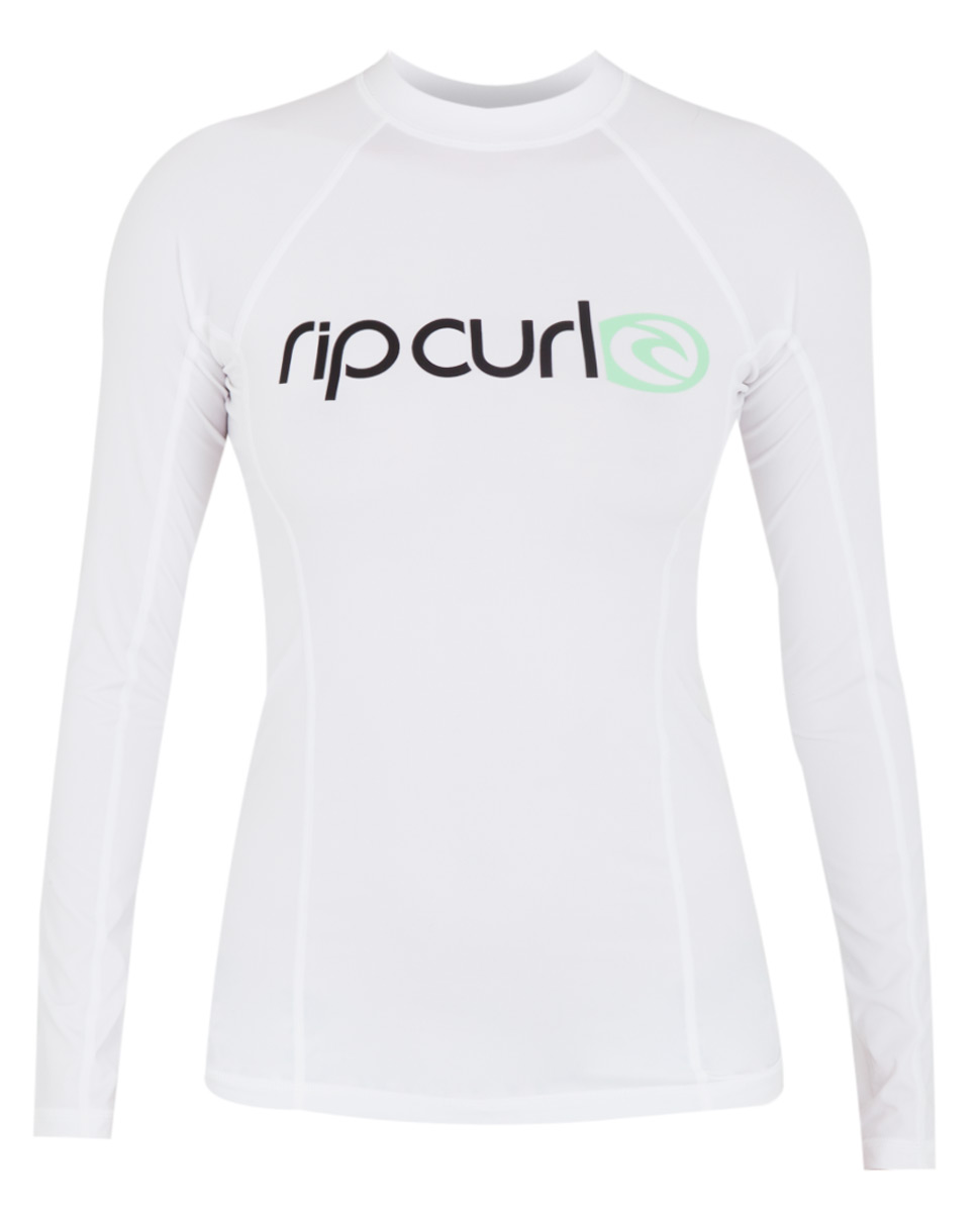 1750dfa504d Rip Curl Women's Surf Team Rashguard Long Sleeve 50+ UV Protection - White