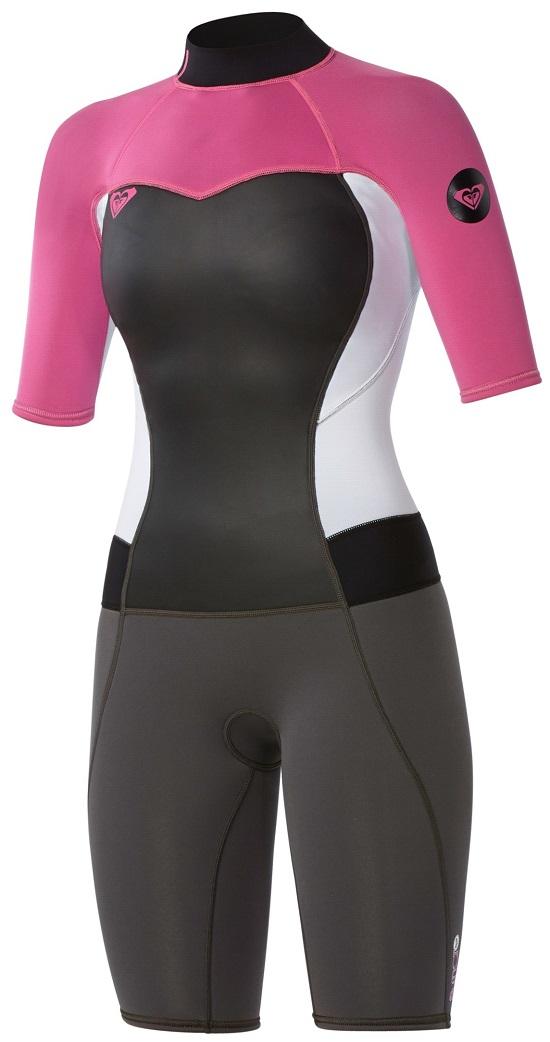 9233effa90 Roxy Syncro Springsuit wetsuit Shorty 2mm - Grey Pink White ARJW503001-XKWM