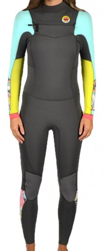 Billabong 403 Salty Dayz Women's Wetsuit 4/3mm Full Chest Zip