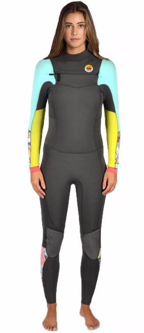 Billabong 403 Salty Dayz Women's Wetsuit Surf Capsule 4/3mm Chest Zip