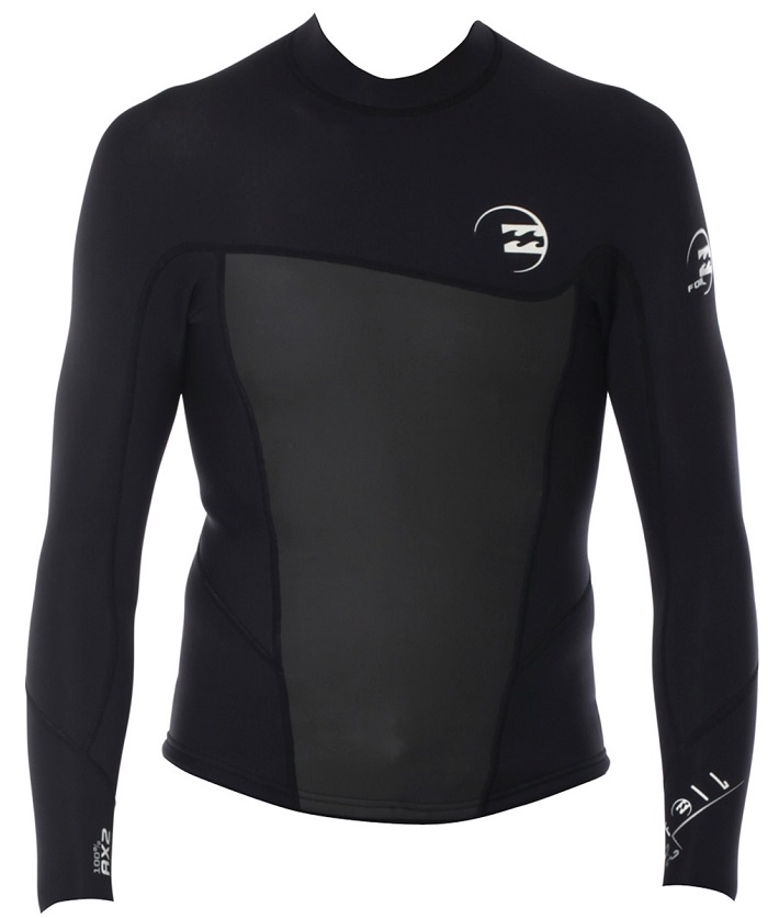 Billabong Foil 2mm Long Sleeve Men's Neoprene Jacket - Black