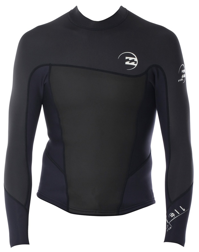 Billabong Foil 2mm Long Sleeve Men's Neoprene Jacket - Grey