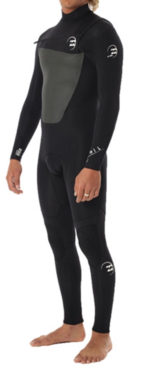 Billabong Foil Wetsuit Men's 4/3mm 403 Chest Zip GBS Full Wetsuit