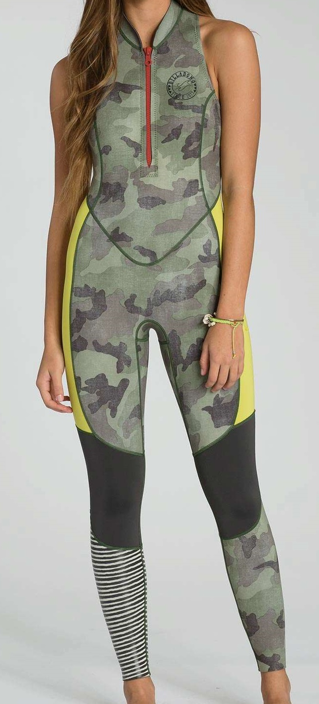 Billabong SALTY JANE Sleeveless Women's Wetsuit 2mm Surf Capsule Limited Edition - Camo