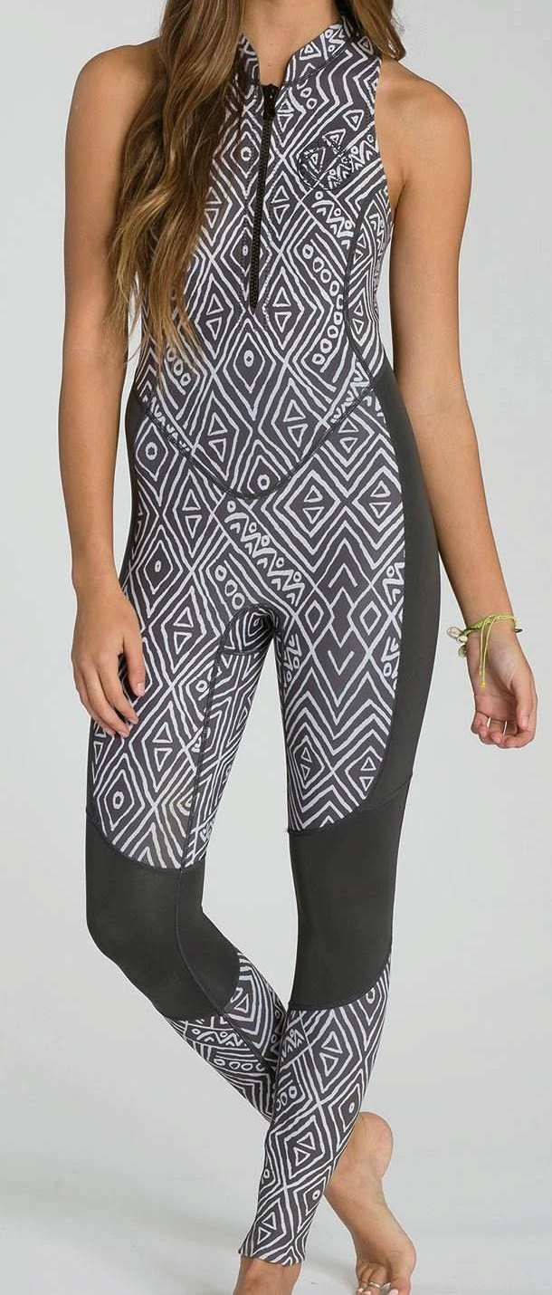 Billabong SALTY JANE Wetsuit 2mm Women's Sleeveless Surf Capsule Limited Edition - GEO Diamond