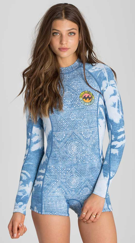 Billabong Surf Capsule Springsuit Wetsuit Spring Fever Women's 2mm Long Sleeve - Indigo