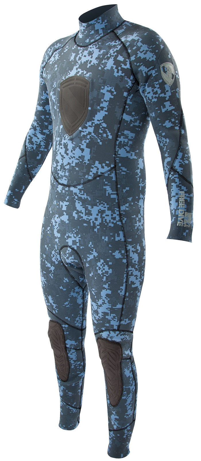 Body Glove 3mm EX3 Men's Free Dive Camo Wetsuit- NEW Blue Camo! -