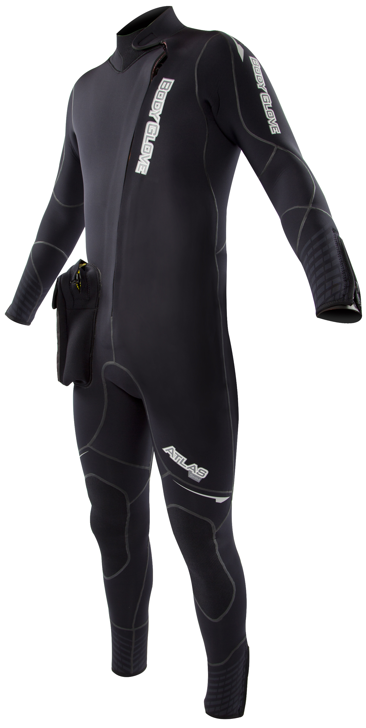 Body Glove Men's Atlas Front Zip Dive Suit 5mm With Hood - Black