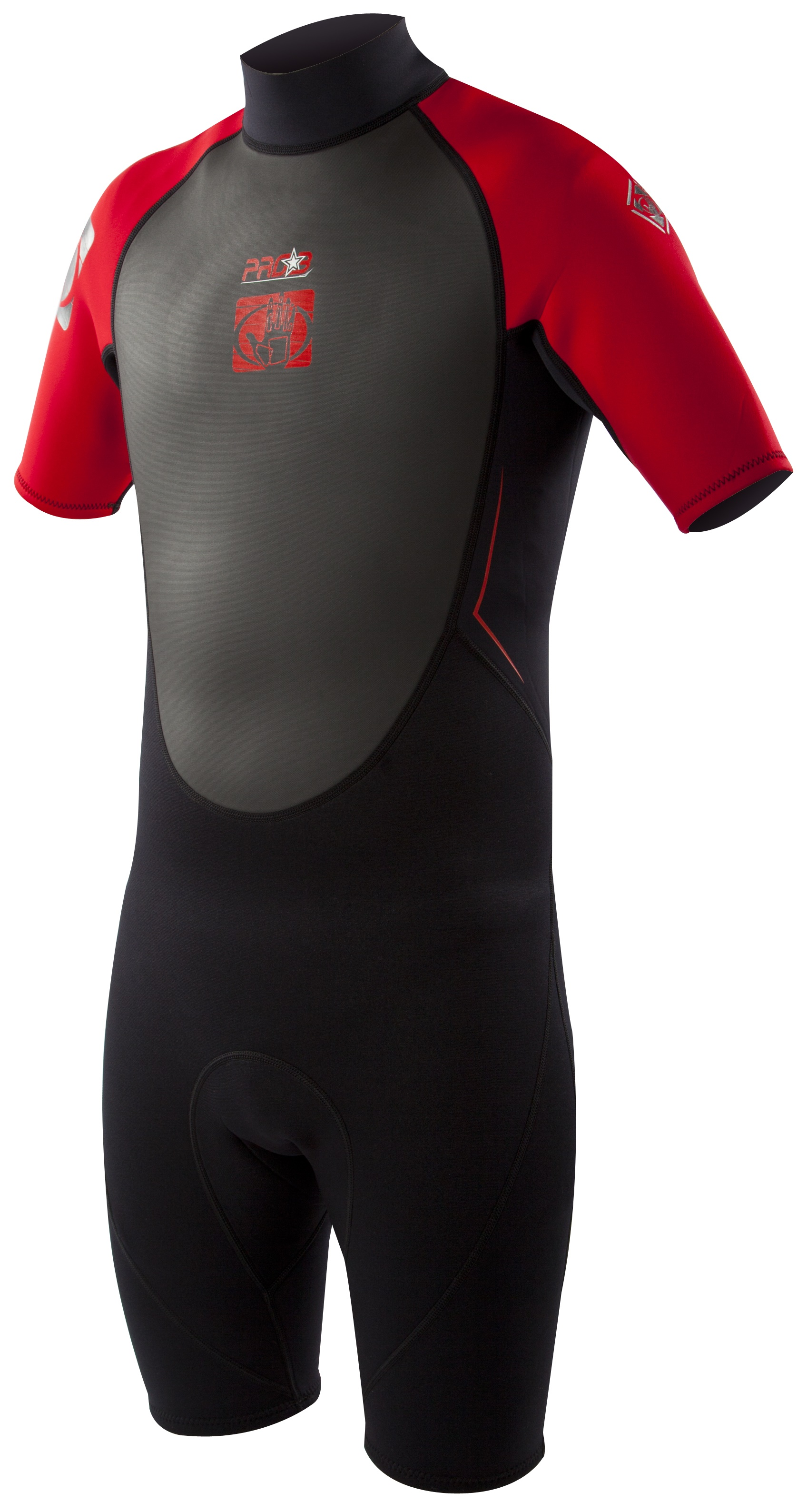 Body Glove Men's Pro3 2/1mm Springsuit Wetsuit - Black/Red