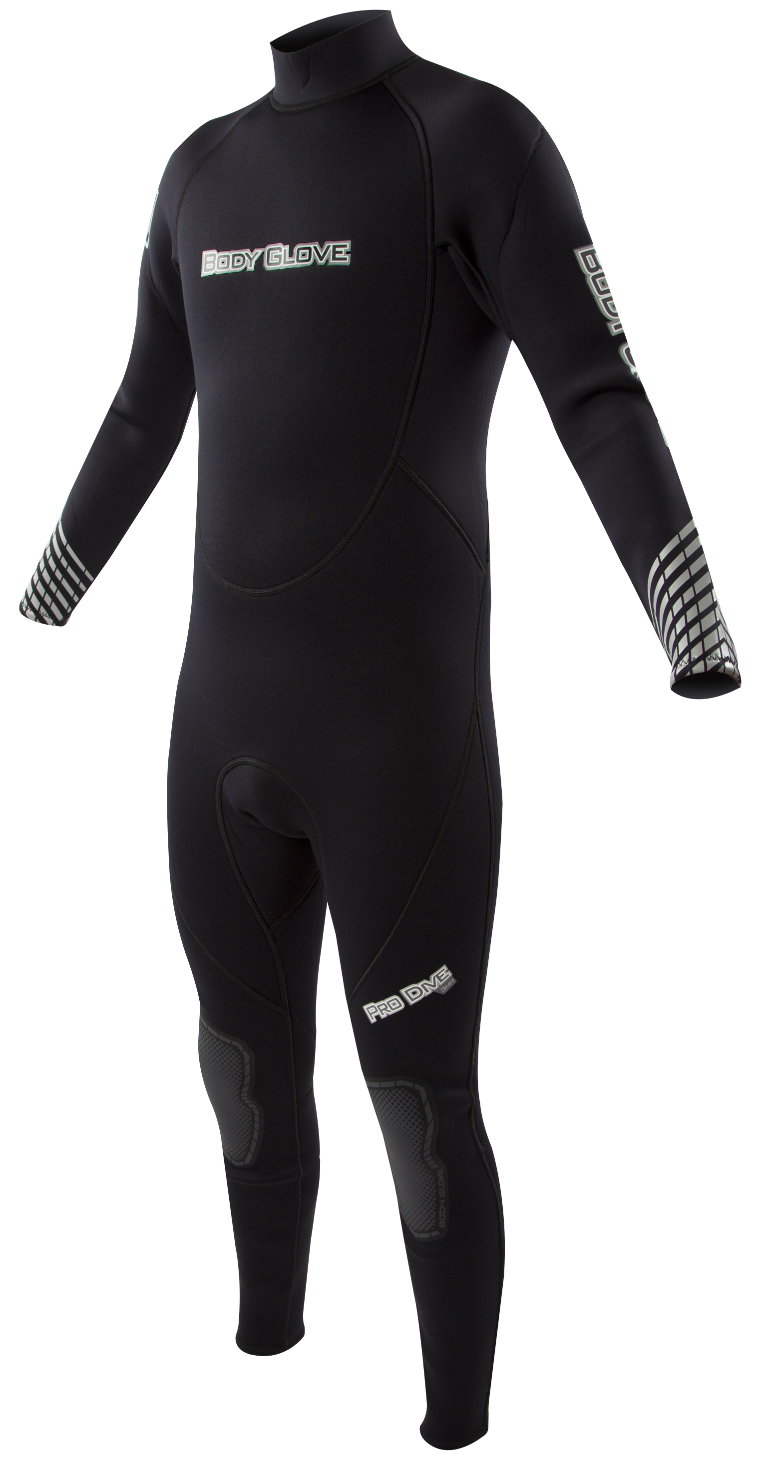Body Glove Pro 3 Dive 3mm Men's Backzip Fullsuit - Black