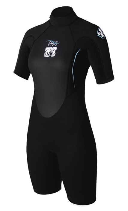 Body Glove Pro3 Springsuit Shorty Wetsuit Surfing Diving 2/1mm - Black