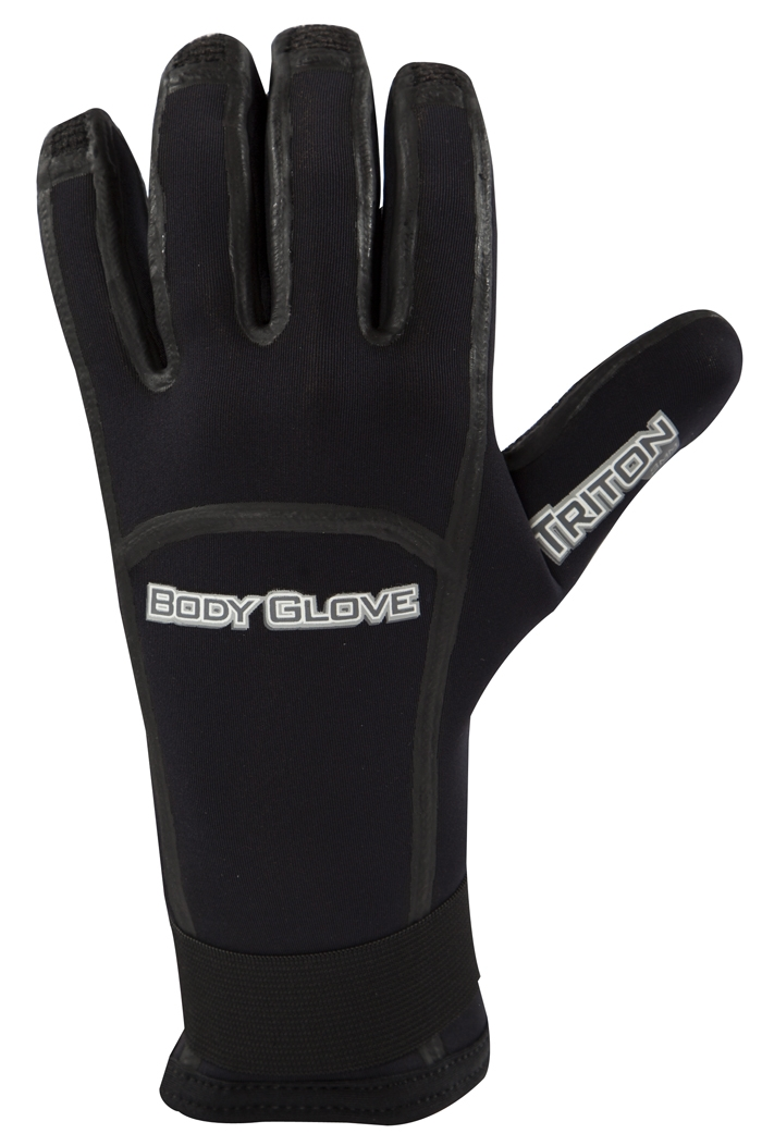 Body Glove Triton 5mm 5 Finger Glove - Black