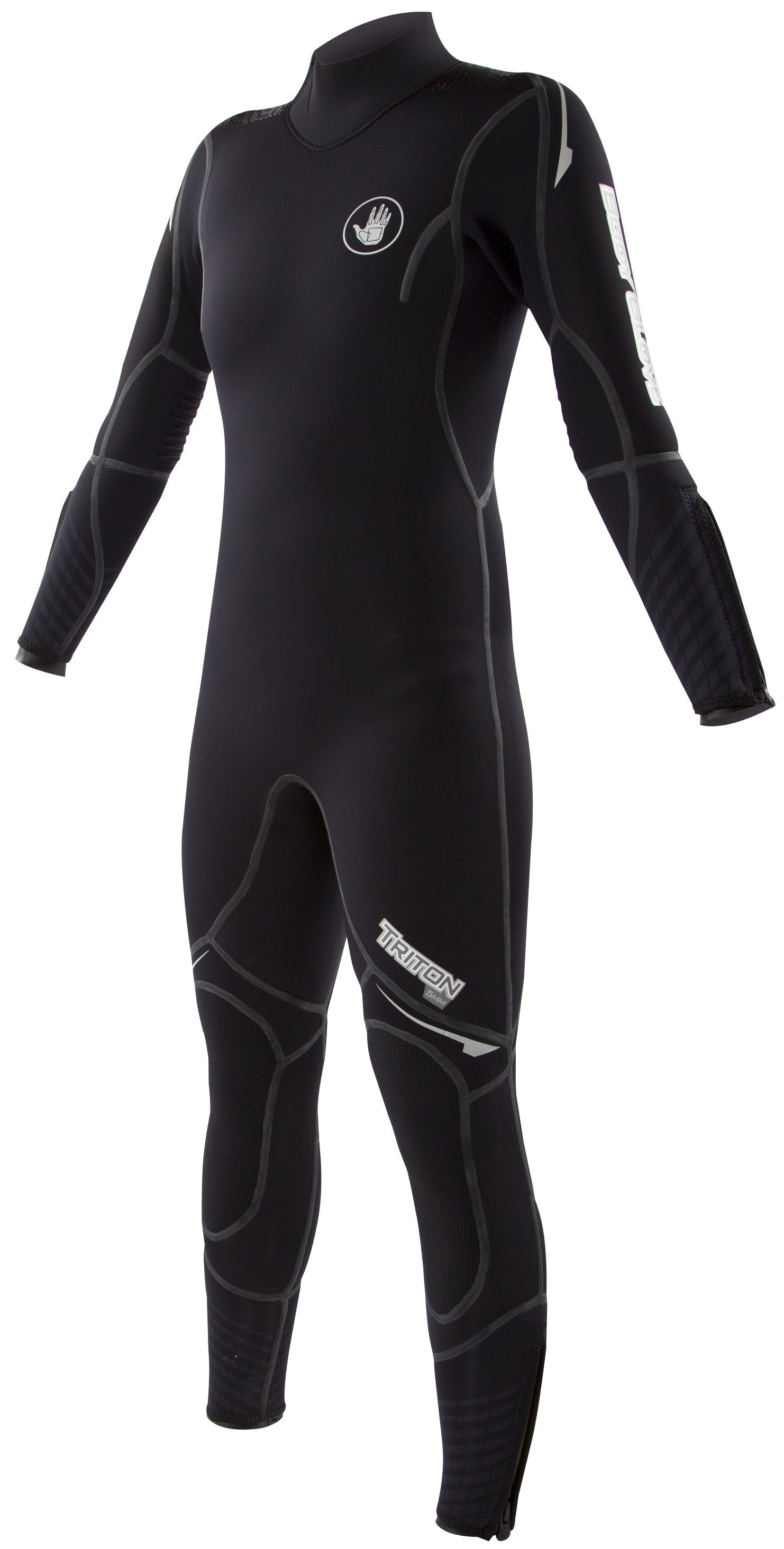 Body Glove Triton 5mm Women's Backzip Fullsuit - Black