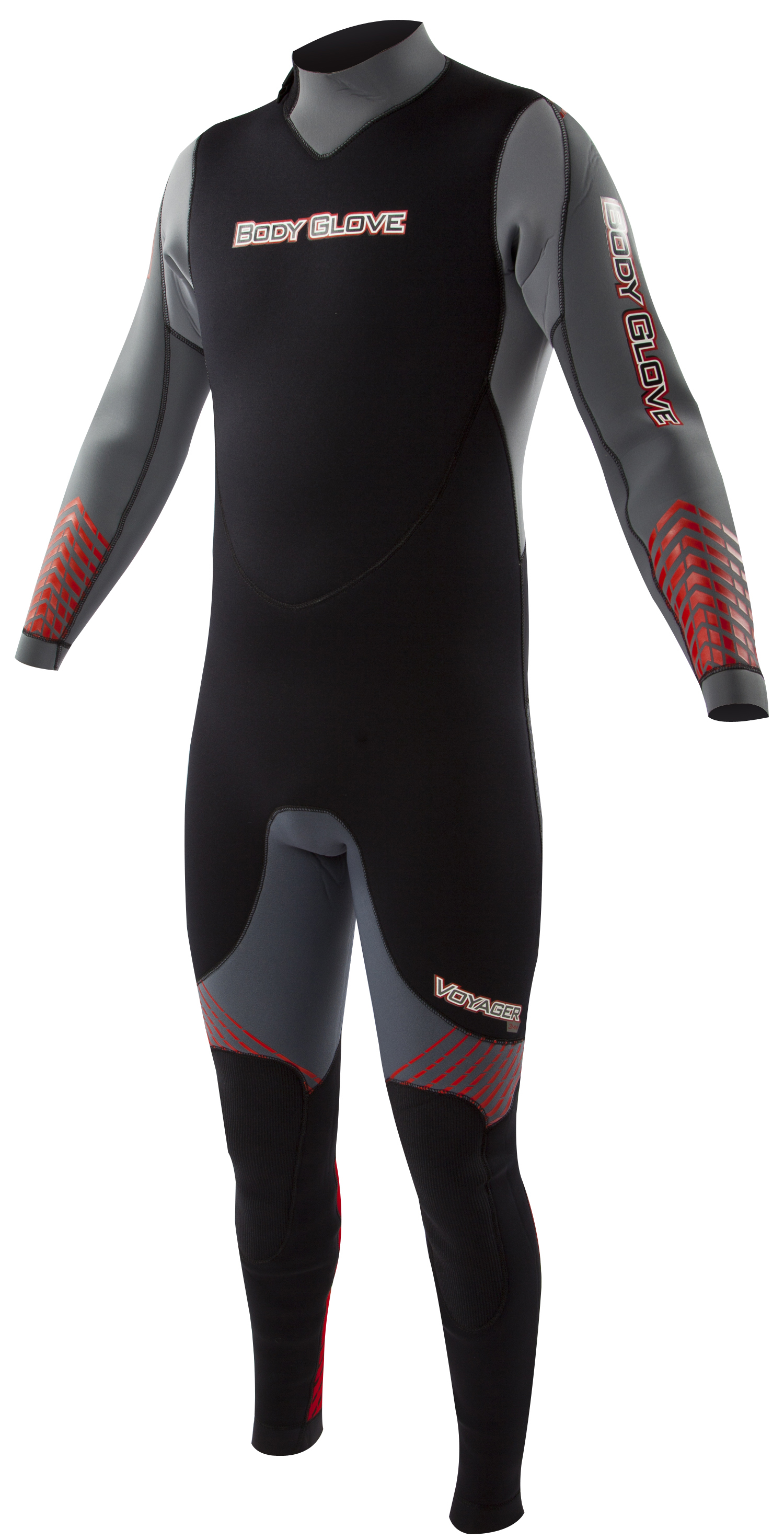 Body Glove Voyager 3mm Men's Backzip Fullsuit - Gray/Red