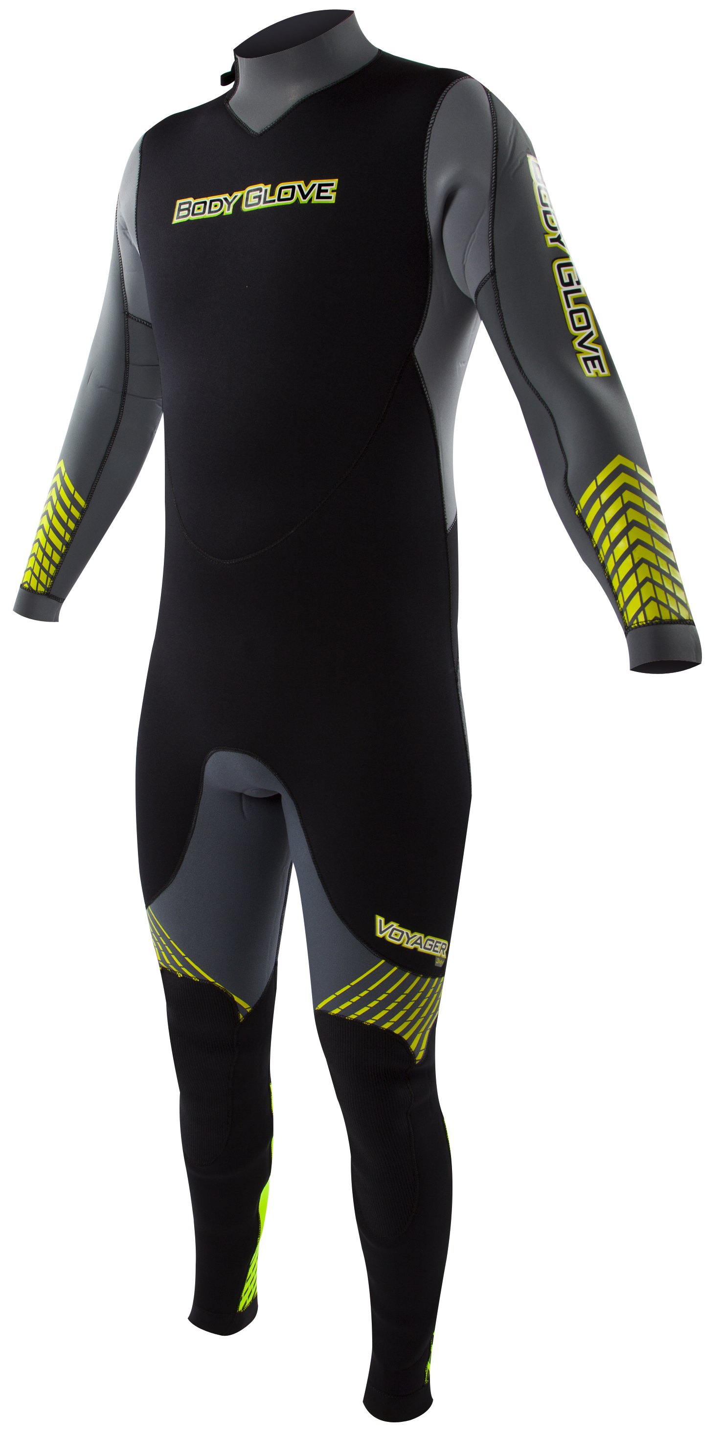 Body Glove Voyager 7mm Men's Backzip Fullsuit - Gray/Lime
