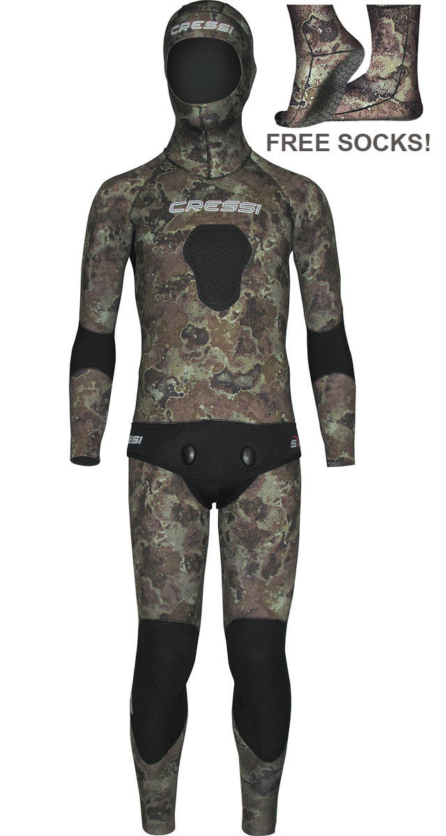 Cressi Sub Tecnica 3.5mm Wetsuit Men's Camouflage Spearfishing Wetsuit