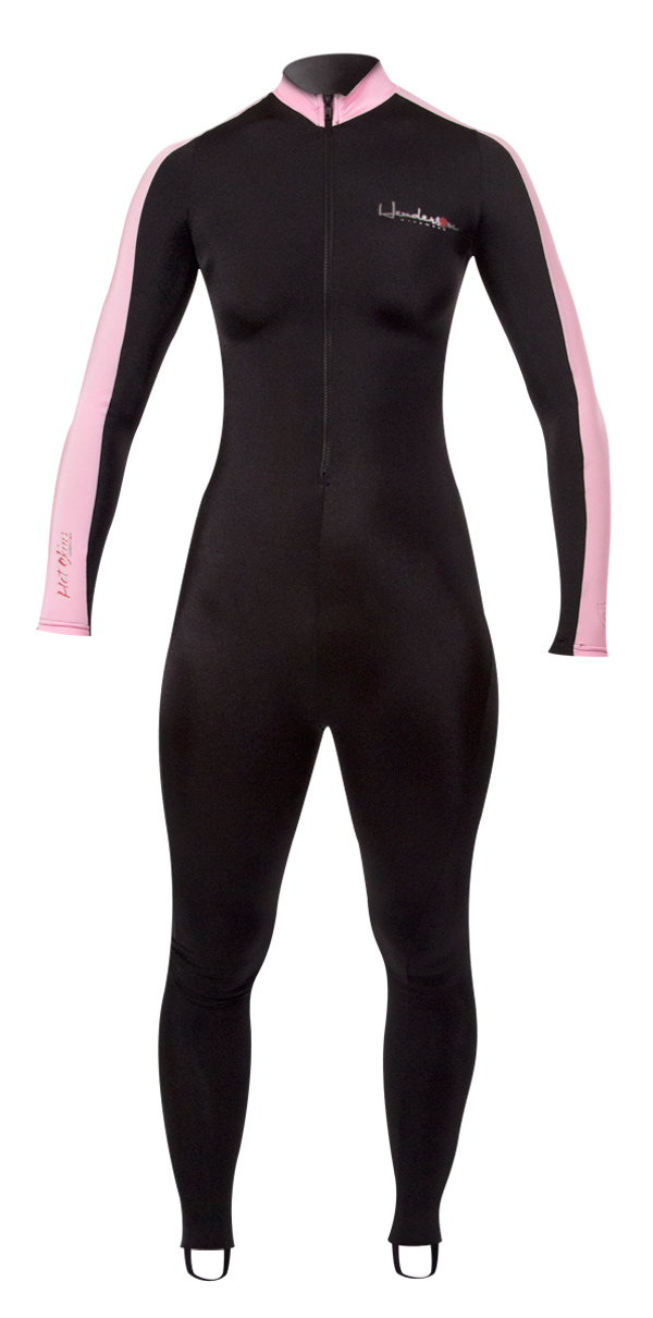 Henderson Women's Lycra Hot Skin - Superior Diveskin for Layering Black / Pink