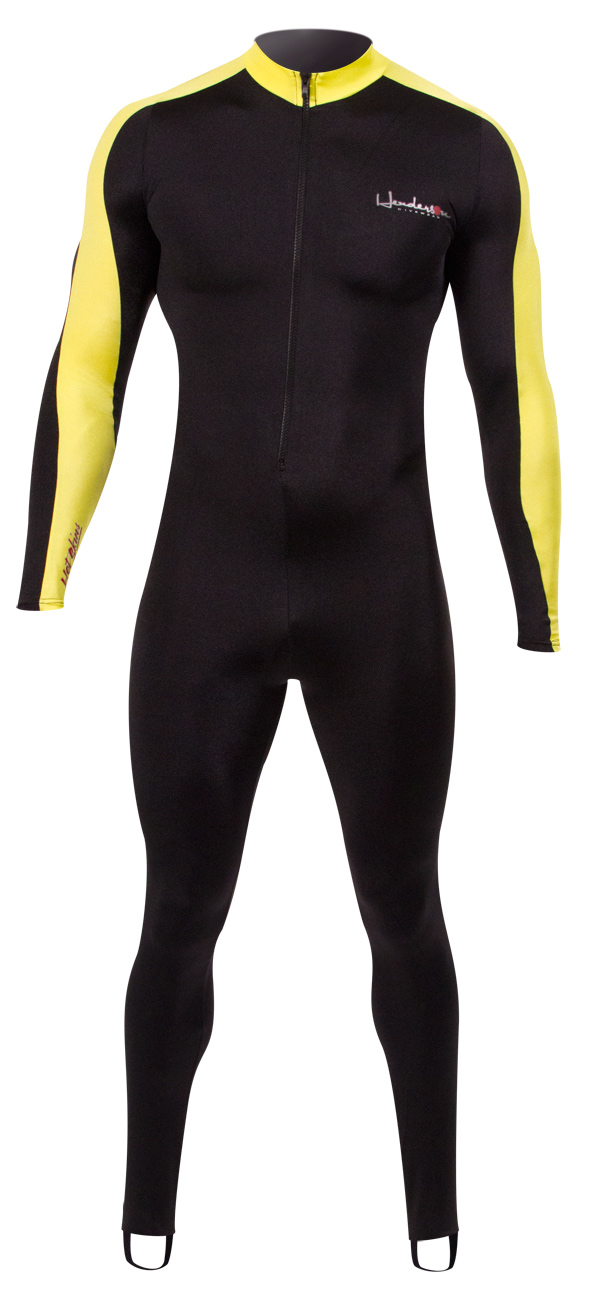 Henderson Men's & Women's Lycra Hot Skin Superior Dive & Swim Skin - Black / Yellow