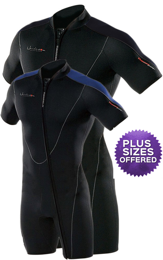 Henderson Thermoprene Men's 3mm Shorty Wetsuit Springsuit Front Zip