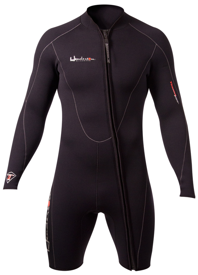 Henderson Men's 5mm Long Sleeve Front Zip Thermoprene Jacket/Shorty Wetsuit