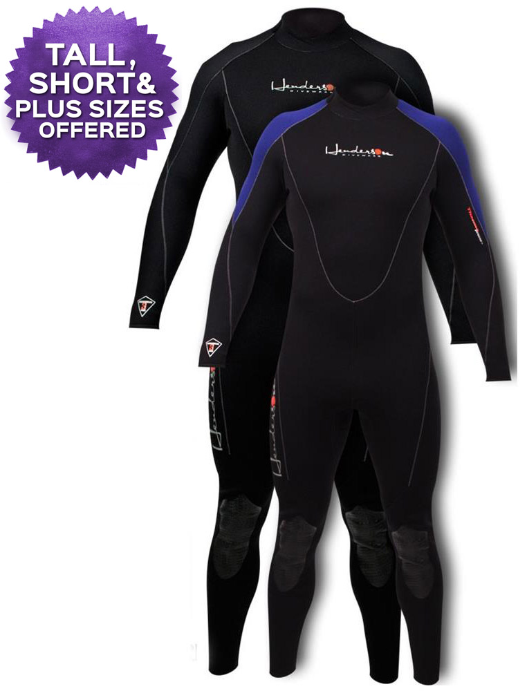 Henderson 3mm THERMOPRENE Men's Wetsuit Full Length GBS - Plus Sizes Available - A830MB-01