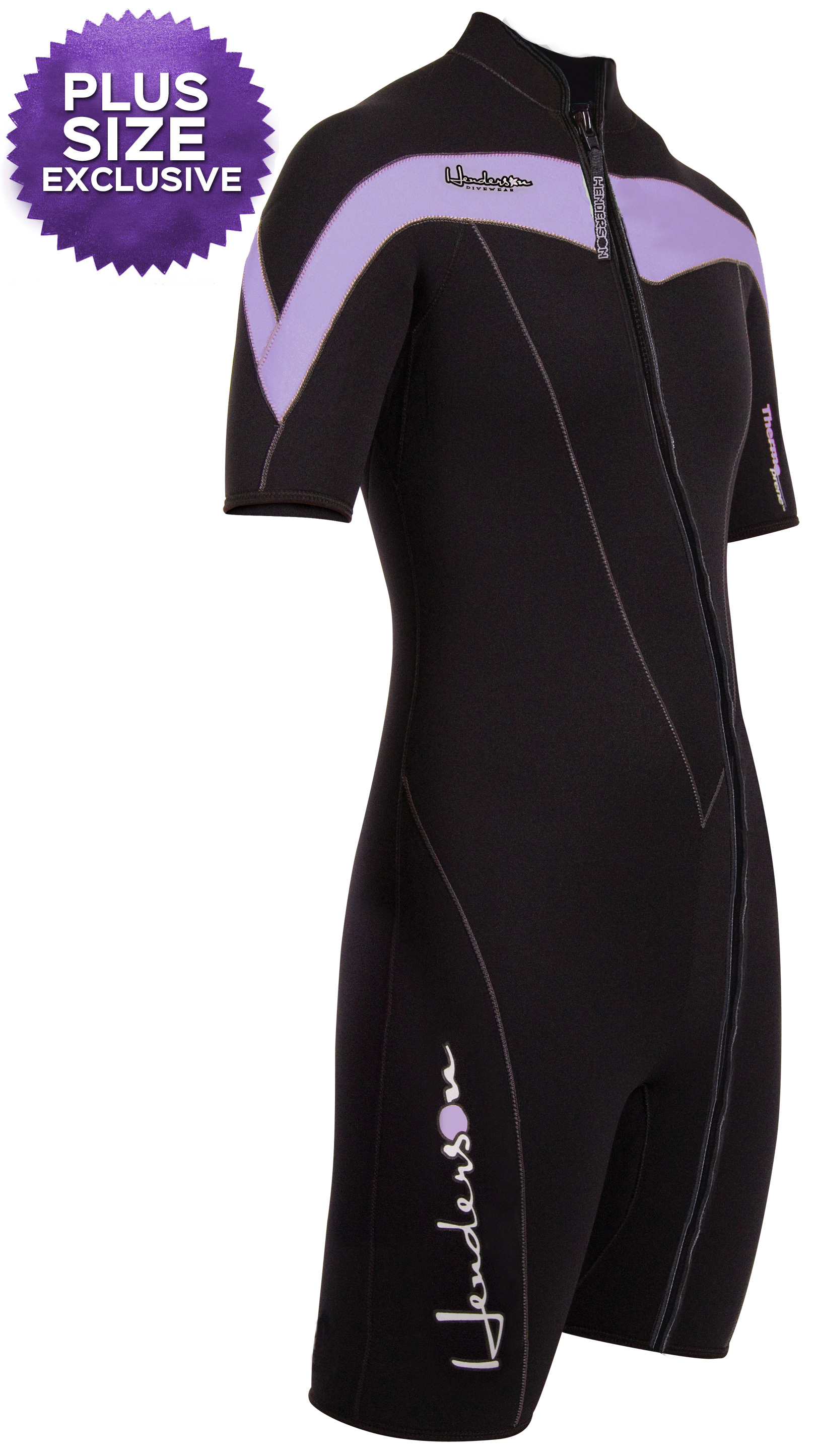 Henderson Thermoprene Shorty Front Zip Wetsuit  Purple / Black