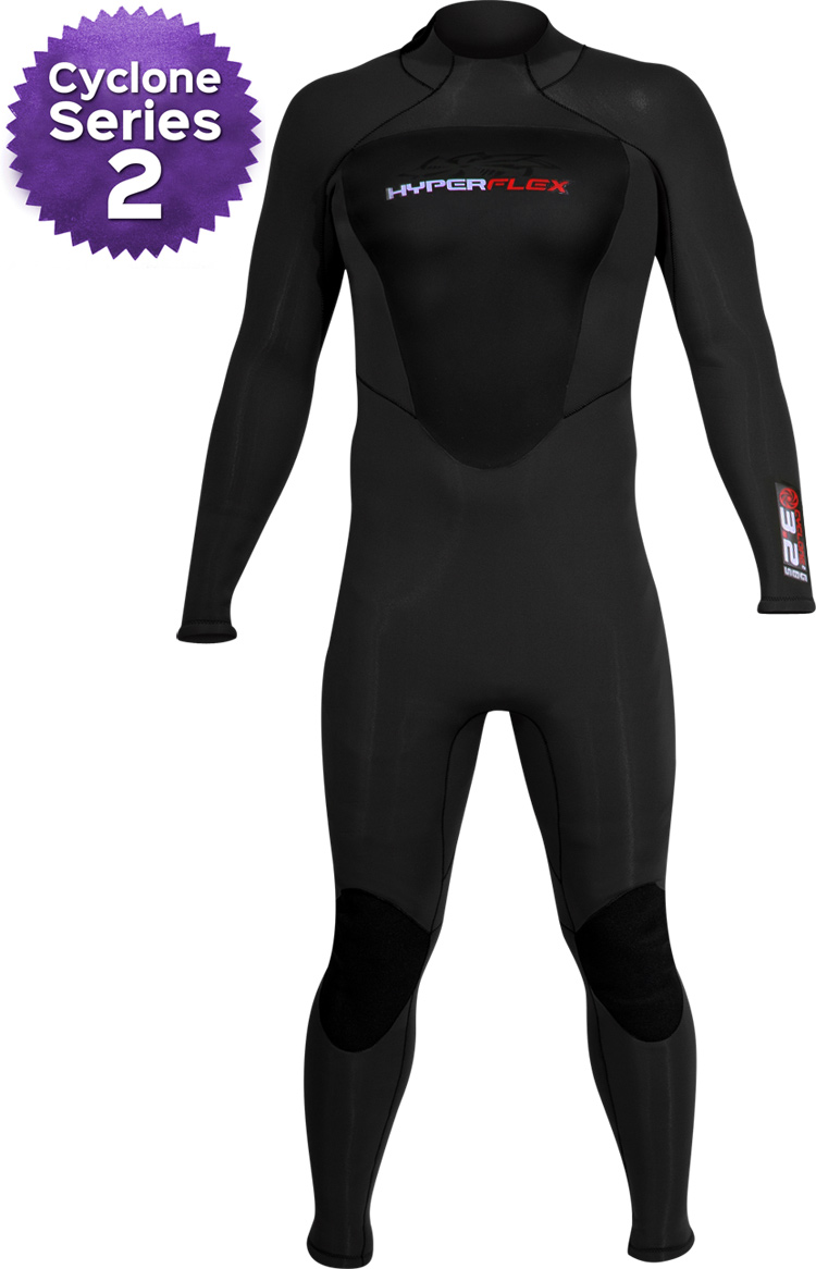 Hyperflex Cyclone 2 4/3mm Men's Wetsuit - ALL NEW DESIGN!