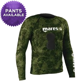 Mares Pure Instinct Rashguard Top w/ Loading Pad Greeen Camo -