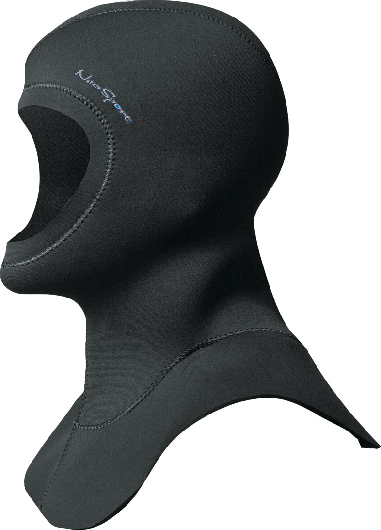 NeoSport 7mm dive hood Vented Super Stretch Cold Water Neoprene