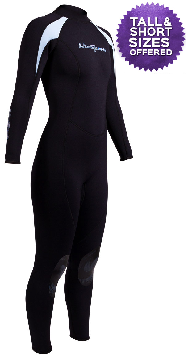 NeoSport XSPAN Women's 3/2mm Full Wetsuit Black/Blue