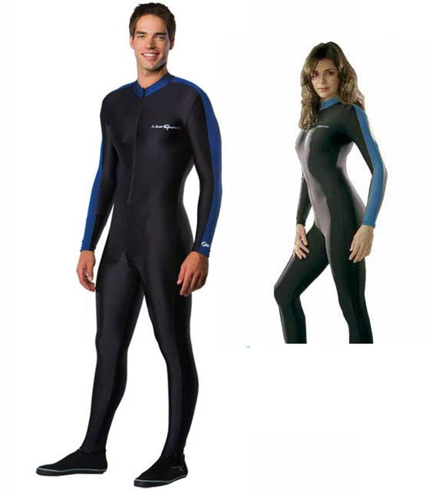 NeoSport by Henderson Skin Suit Sport Skin 50+ UPF Rating Blue and Black - S807UF-45