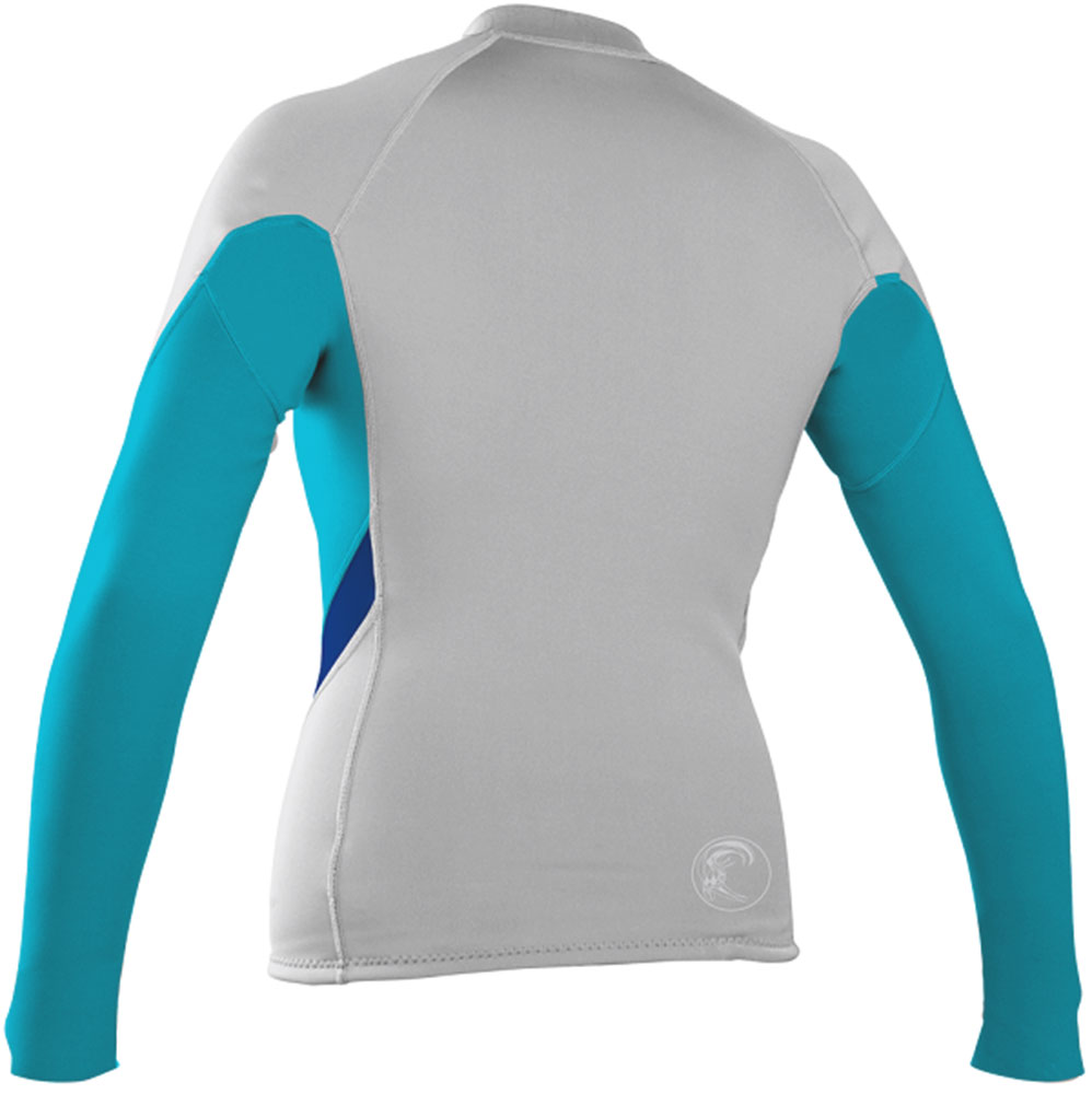 O'Neill Bahia Women's Front Zip Jacket 1mm Neoprene Grey/Teal - 4284-W98