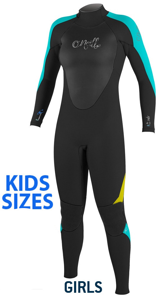 O'Neill Girls Epic Wetsuit 4/3mm Full Youth