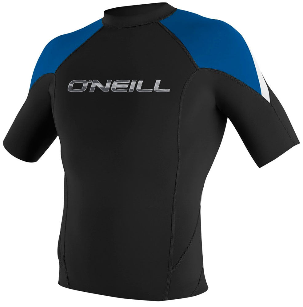O'Neill Hammer Jacket Short Sleeve 1mm Crew Neoprene Jacket - Black/Blue