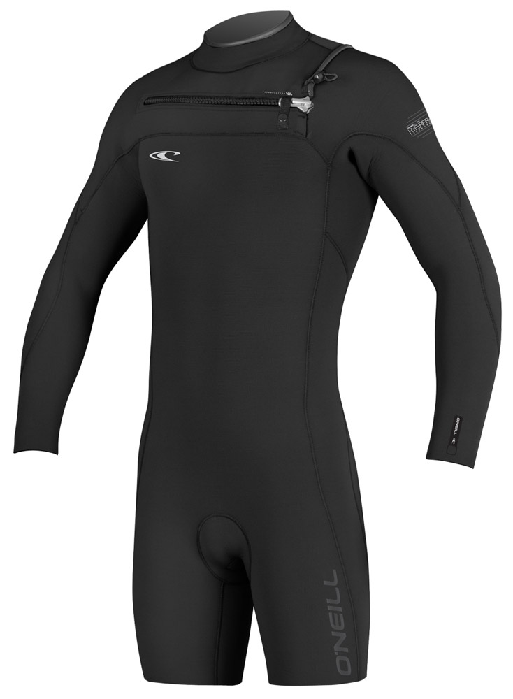 O'Neill Hyperfreak Long Sleeve Springsuit Men's Wetsuit 2mm Front Zip- Black/Blue