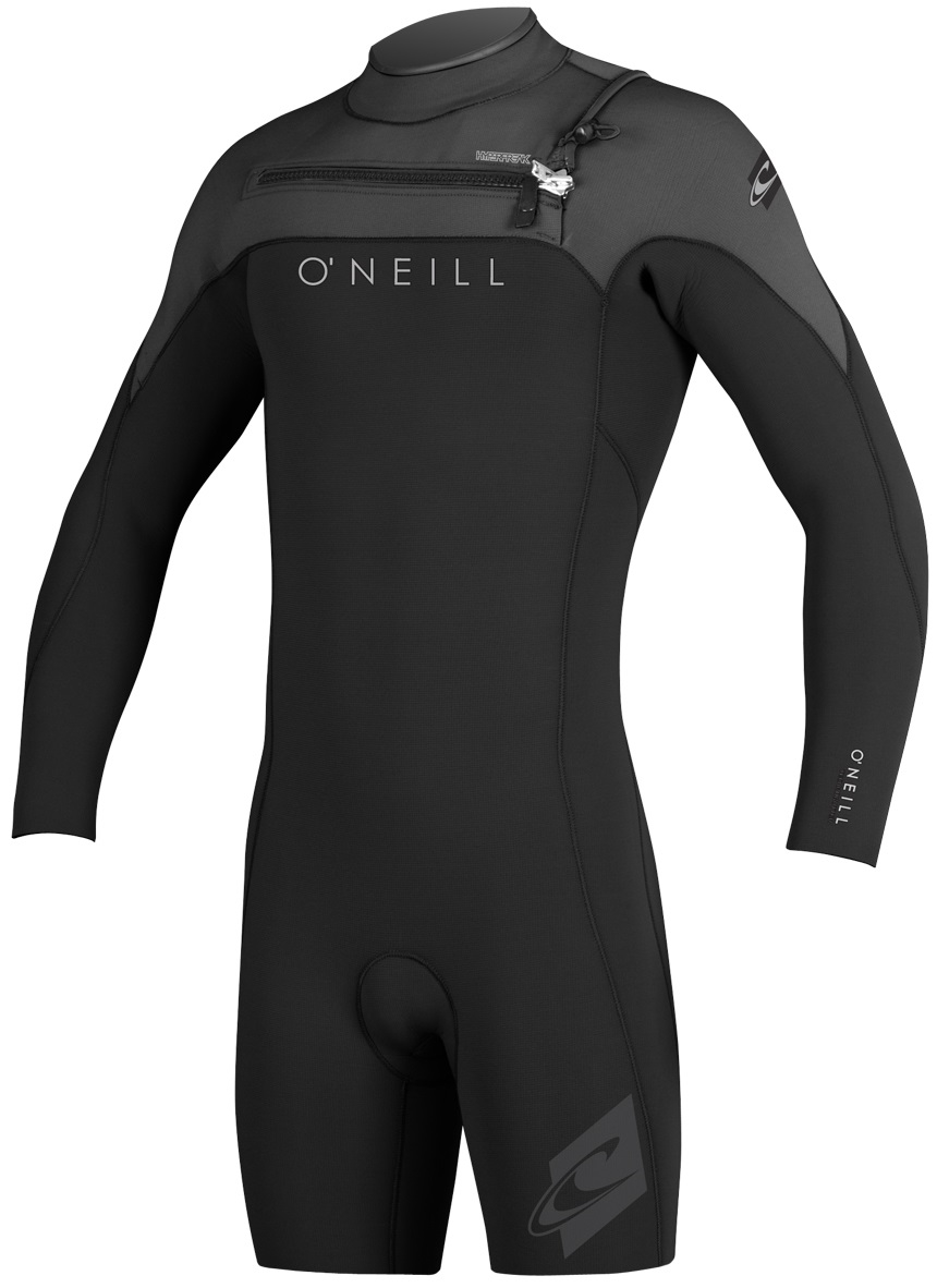 O'Neill Hyperfreak Long Sleeve Springsuit Men's Wetsuit 2mm Front Zip- Blk/Grey