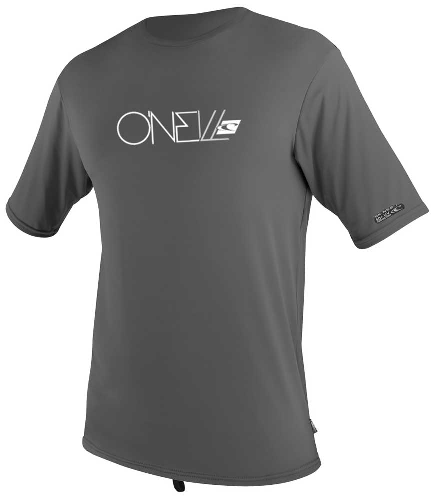 O'Neill Men's Loose Fit Rashguard Tee Short Sleeve 50+ UV Protection - Grey - 4115A-009