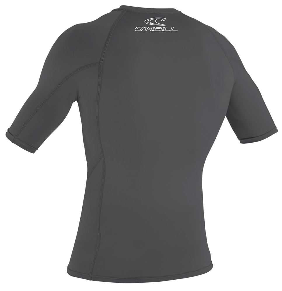 O'Neill Men's Skins Short Sleeve Rashguard 50+ UV Protection - SMOKE - 3341-189