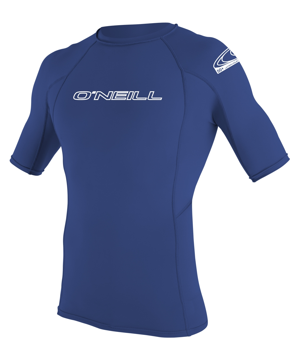 O'Neill Men's Skins Short Sleeve Rashguard 50+ UV Protection - Blue