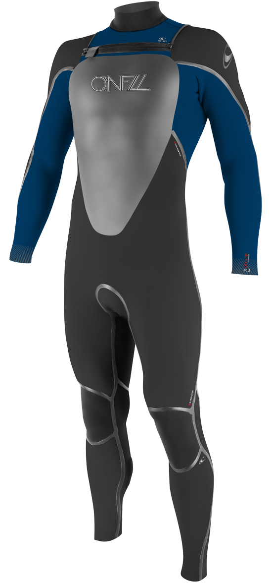 O'Neill Mutant 5/4mm Hooded Wetsuit Junior Boys & Girls - Black/Blue