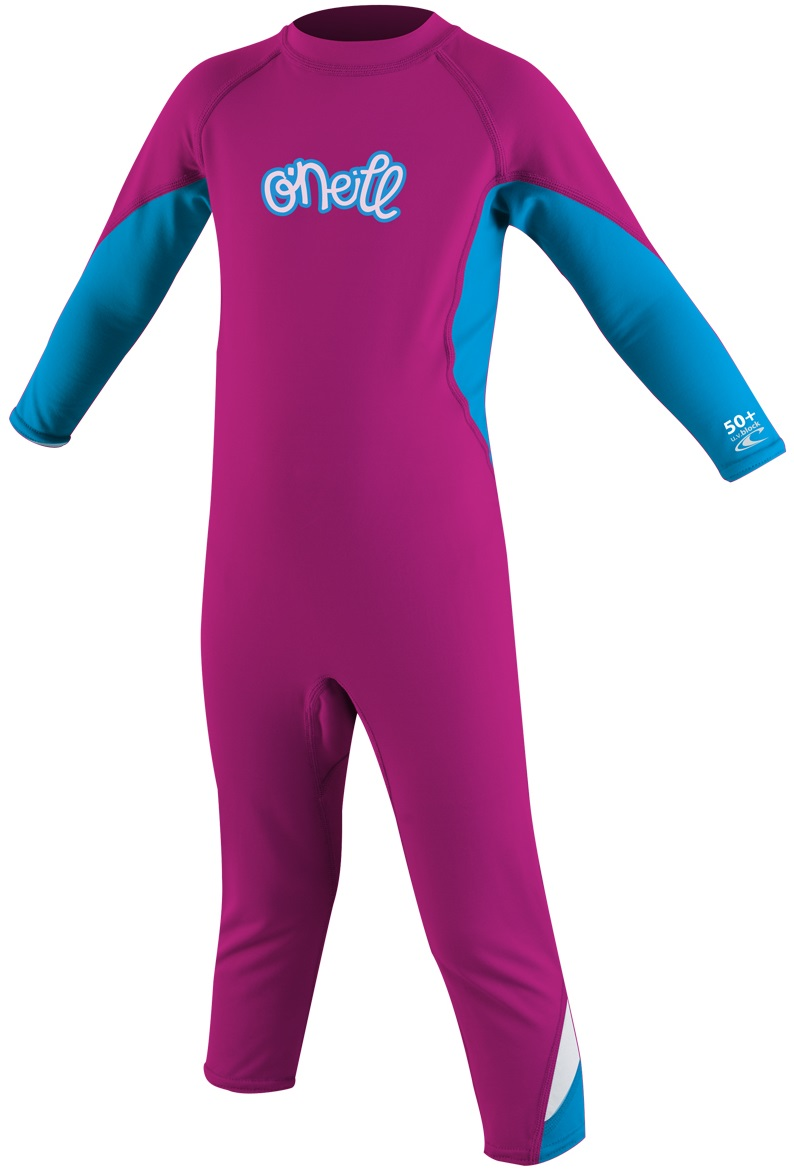 O'Neill Ozone Toddler Skinsuit Girls Skin 50+ UV Protection -Pink